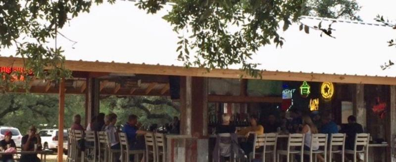 Outdoor Seating at Hays City Ice House